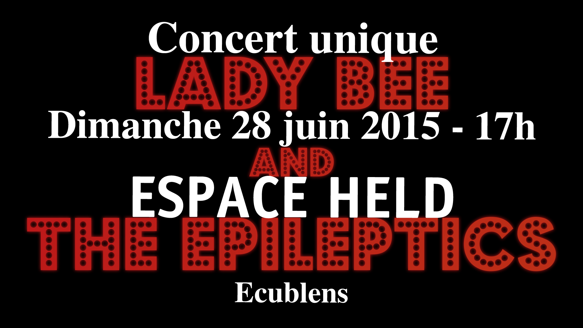 Lady Bee & the Epileptics in concert !
